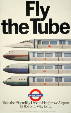 Poster; fly the tube, by the agency fcb, 1978