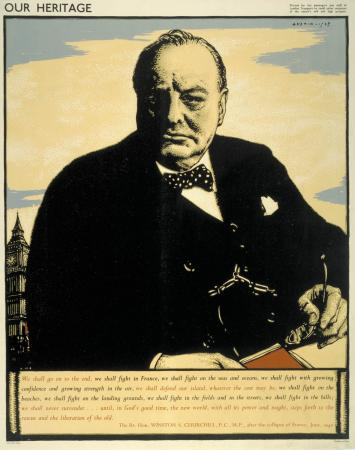 Poster; Our heritage Winston Churchill, by Robert Sargent Austin, 1943