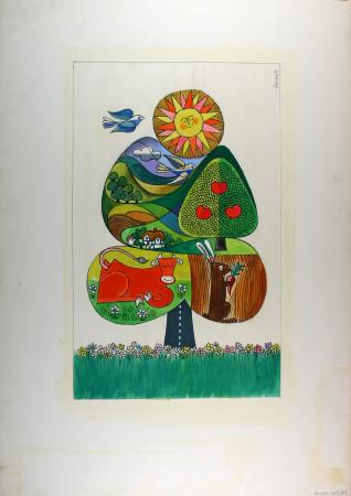 Poster artwork; country walks, by harry stevens, 1976