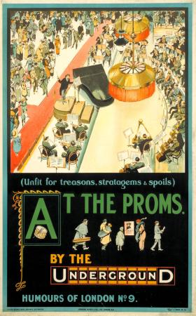 Poster; At the Proms; humours no.9, by Tony Sarg, 1913