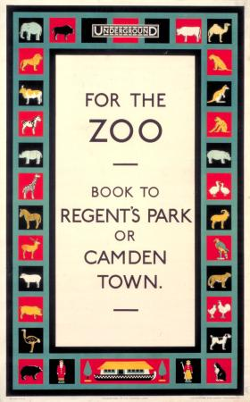 Poster; For the zoo, unknown, 1920