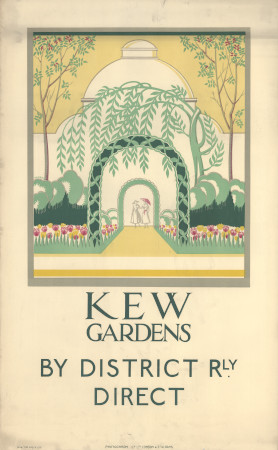 Poster; Kew Gardens, by Irene Fawkes, 1923