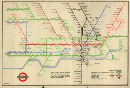 Related object: Map; Pocket Underground map No 2, by Henry C Beck, 1941