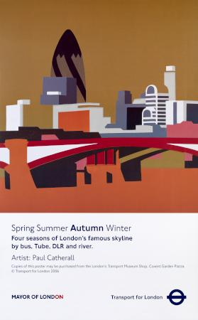 Poster; autumn, by paul catherall, 2006