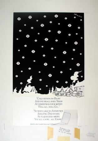 Related object: Poster artwork; Cold winds do blow, by Brian Grimwood, 1980