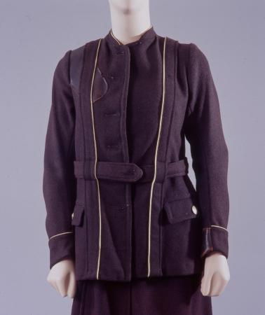 Jacket;  wool jacket, as issued to lgoc female bus conductor, 1916-1919