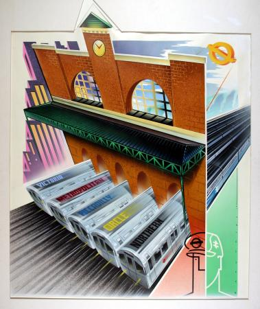 Related object: Poster artwork; Trains don