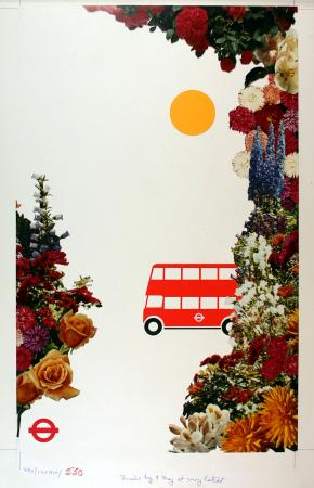 Related object: Poster artwork; London in bloom, by Mike A Welch, 1980