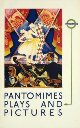 Poster; Pantomimes, plays and pictures, by Charles Atkinson, 1933