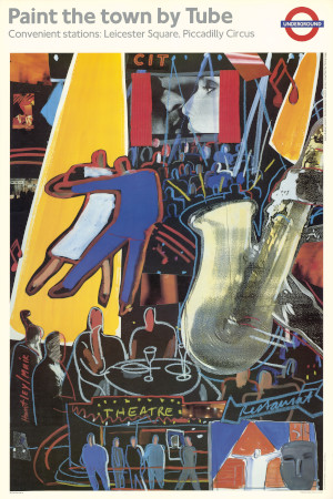 Poster; West End entertainments, by Su Huntley and Donna Muir, 1987
