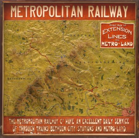 Related object: Relief map of the Metropolitan Railway, c1915