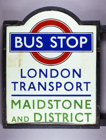 Bus Stop Flag LPTB Bronze Frame For Joint Services London Transpo