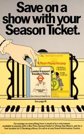 Poster; Save on a show with your season ticket, Brian Grimwood, 1980