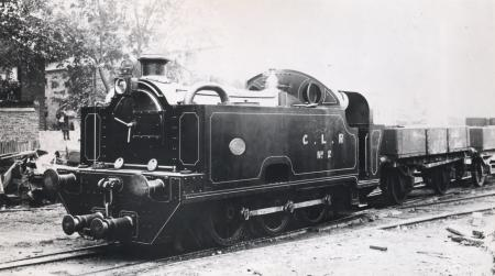 BW print; Three-quarter front nearside view of a Central London Railway 1899-class locomotive no 2, 1899