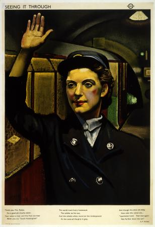 Poster; Seeing it through; station woman, by Eric Henri Kennington, 1944