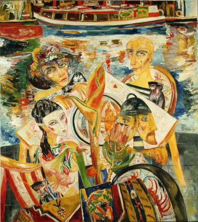 Related object: Poster artwork; Camden Lock, by John Bellany, 1990.