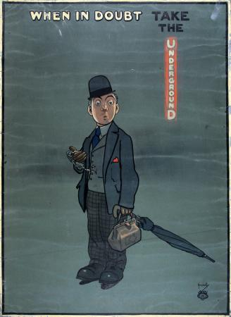 Related object: Poster artwork; When in doubt, by John Hassall, 1913