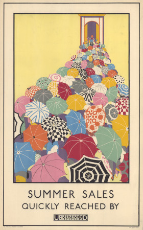 Poster; Summer sales quickly reached, by Mary Koop, 1925