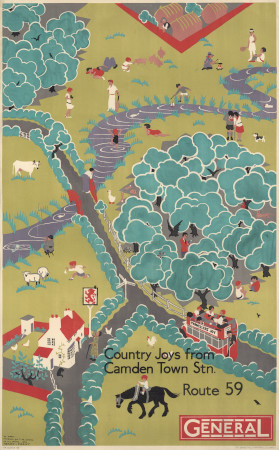 Poster; Country Joys from Camden Town Station, by Herry Perry, 1930