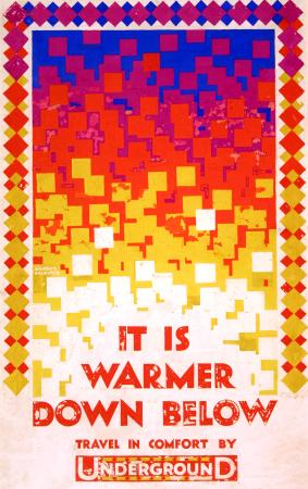 Related object: Poster artwork; It is warmer down below, by Austin Cooper, 1924