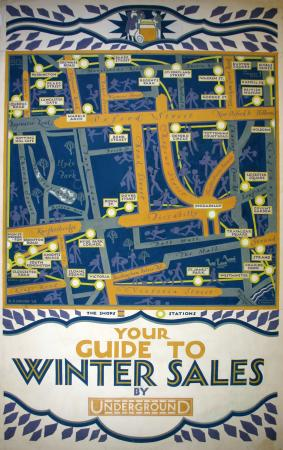 Related object: Poster artwork; Your guide to winter sales, by Reginald Percy Gossop, 1928