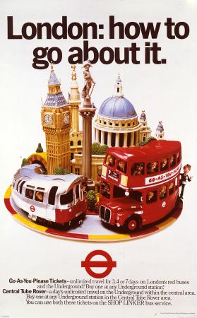 Poster; London: how to go about it, by Ray Campbell and Robin Bouttell, 1979