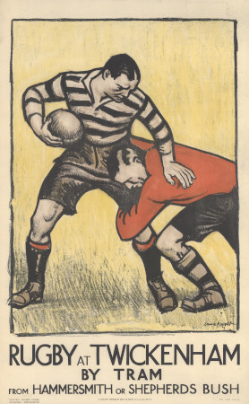 Poster; Rugby at Twickenham, by Laura Knight, 1921