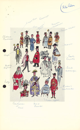Related object: Poster artwork; We Londoners, annotated proof of postcard version of poster, by Dorrit Dekk, 1960