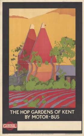 Poster; the hop gardens of kent, by dorothy dix, 1922