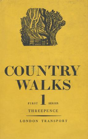 Country walks book, 1st series, by charles white, published by london transport, 1936