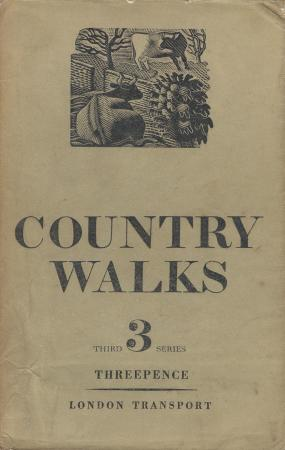 Guide book; country walks, 3rd series, by charles white, published by london transport, 1937