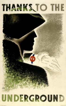 Poster; Thanks to the Underground, by Zero Hans Schleger, 1935