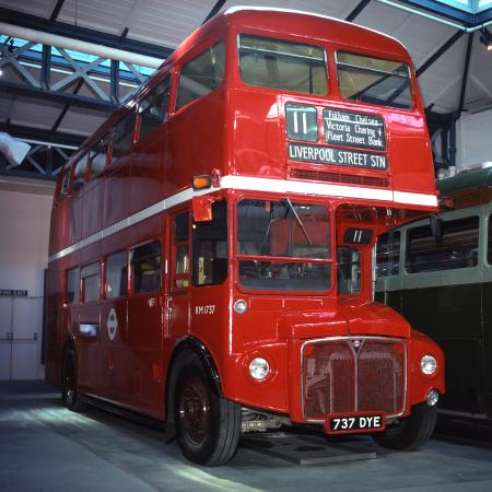 Road vehicle; aec/prv routemaster double deck motor bus bonnet no rm173 registration number 737dye, 1963