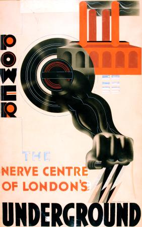 Related object: Poster artwork; Power, by Edward McKnight Kauffer, 1930