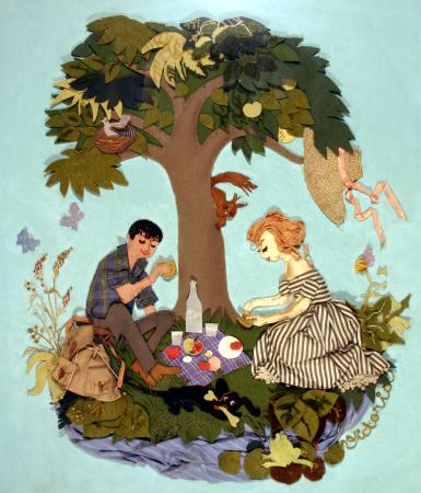 Related object: Poster artwork; Picnic, by Victoria Davidson, 1960