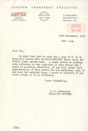 Related object: Letter; from Harold Hutchison, Publicity Officer to list of companies, 18 Sep 1956