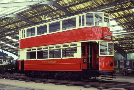 Tramway vehicle; london county council tramways class e/1 double deck electric tram no. 1025, 1910