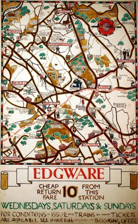Related object: Poster artwork; Edgware, by Herry Perry, 1929
