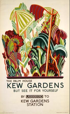 Poster; the palm house - kew gardens, by clive gardiner, 1926
