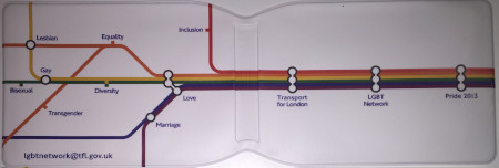 Related object: Wallet ; TfL LGBT+ Pride Network Oyster Card Holder, 2013