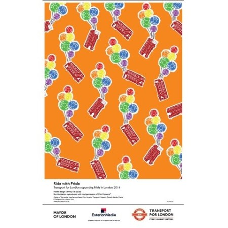 Poster; London pride 2014, by Jenney De Sousa, 2014