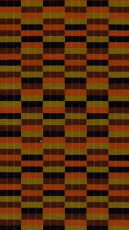 Related object: Moquette sample; Moquette used on Metrobus, Titan type buses, D78-stock and 1983-tube stock, circa 1975