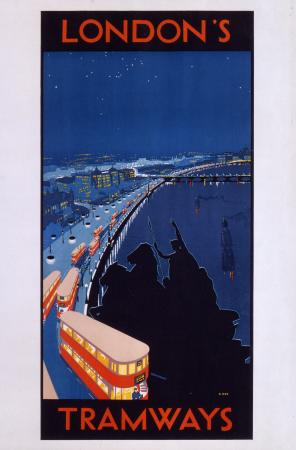 Poster; LondonsTramways, unknown, circa 1929