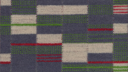 Moquette sample; croydon tramlink priority design number 30373, designed by wallace sewell, 2008