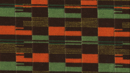 Related object: Moquette sample; Overground 710 standard moquette, design by Wallace Sewell 2008, colourway by Fernando Solis 2016