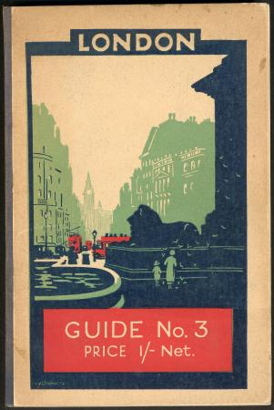 Related object: Guide book; London - Guide No 3, issued by Underground Electric Railways, 1924