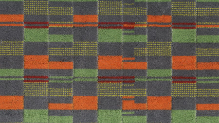 Related object: Moquette sample; Overground 710 priority moquette, design by Wallace Sewell 2008, colourway by Fernando Solis 2016