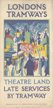 Poster; Theatreland, by Frederick William Charles John Farleigh, 1923