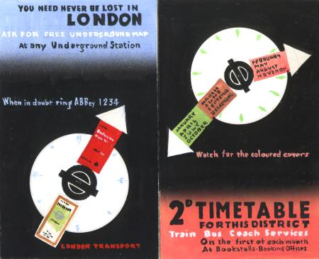 Related object: Artwork; for timetable booklet covers, by Abram Games