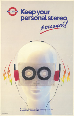 Related object: Poster; Keep your personal stereo personal!, by Tim Demuth, 1987